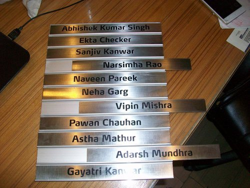 Sliding Name Plate Steel Manufacturer In Gurgaon Aluminum Sliding Name Plate Manufacturer From