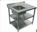 SS Work Table with Sink