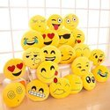 Yellow Soft Poly Satin Emoji Pillow, Size: 12 X 12 Inches
