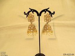 Triangular Jhumki Antique Earrings