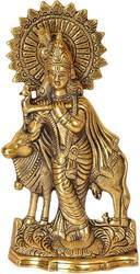 Bharat Handicrafts Cow Krishna Wall Hanging And Tableware