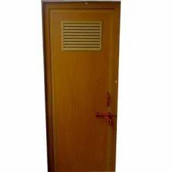 Shreeji Polytech Brown 6 Feet PVC Hinged Door, For Bathroom, Interior