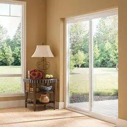 Aluminium Partition Doors Sliding Glass Door, For Office, Exterior