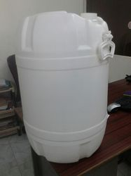 Milky White, Blue Green Plastic 50 Litre Narrow Mouth Containers, Capacity: 50 L