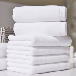 White Hotel Face Towels, Size: 12 x 12 inch