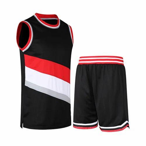 14c72c7a102 Black, Red & White Basketball Sportswear, Rs 250 /piece, Ghanshyam ...
