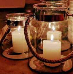 Rope Glass Candle Holders