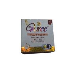 Goree Day And Night Whitening Cream, Features: Oli Free, Packaging Type: Cream Jar