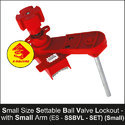 Small Settable Ball Valve Lockout