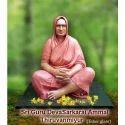 Skin Pink Sri Guru Deva Sarkarai Ammal Thiruvanmiyur Statue, For Interior Decor