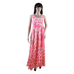 Western Printed Casual Gown