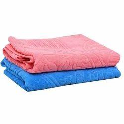 Jacquard Terry Cotton Bath Towel, For Bathroom, Size: 30x60 Inch