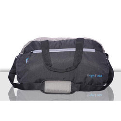 a8e10b1f60a4 Black And Grey Plain Waterproof Duffel Bag