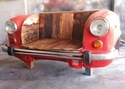 Red Mild Steel Ambassador Sofa For Home, Hall