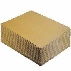 Brown Corrugated Kraft Paper Sheet, For Packaging, 100-250 Gsm