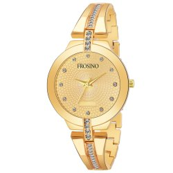 Frosino FRAC101867 Gold Metal Strap Analog Watch