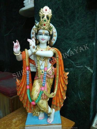 Shree Siddhi Vinayak White Krishna Marble Statue Rs 13000