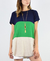 Private label Ladies Colour Blocked Tunic Top