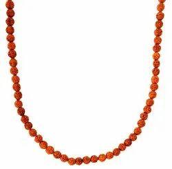 Kesar Zems Wooden 108-Bead Panch Mukhi Rudraksh Mala (15 cm x 37 cm x 1 cm, Brown)