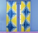 Designer Indian Tie Dye Curtain Shibori Door Window Drapes