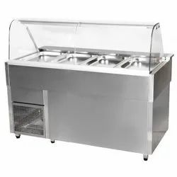 SS Bain Marie With Glass Display