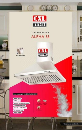 Cassette & Baffle Filter CXL Alpha SS Kitchen Chimney