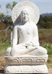 Religious Fiber Buddha Statue, Size/Dimension: 4 Feet