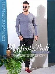 Mens V-neck full sleeve T-Shirt