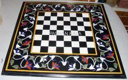 Marble Inlay Chess Table Top