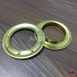 50mm Brass Curtain Eyelets & Washers Golden