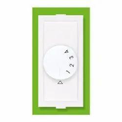 Plastic White 4 Step 450 Fan Regulator, for Ceiling Fan, Number Of Modules: 2 Modules