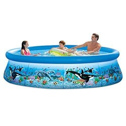 Intex Ocean Reef Easy Set Swimming Pool with Water Filter, 305 x 76 cm