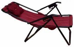 Maroon Mild Steel Easy Chair