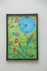 Wood Festival Bird wall clock, For Home