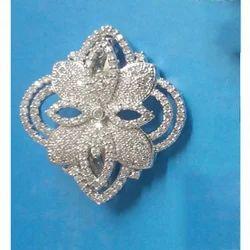 CZ  Diamond Saree Pin