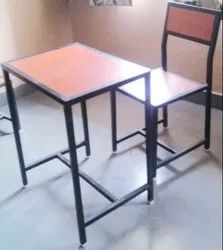 Single Seat Desk and Bench ( Wooden Top, Inside Fitting)