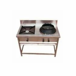 SSE Polished Chinese Table Top Range, For Kitchen