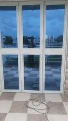 Exterior Toughened Glass UPVC French Door, Thickness: 5-10 mm