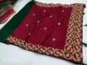 Party Wear Ladies Embroidered Saree, With Blouse Piece, 5.5 M (separate Blouse Piece)