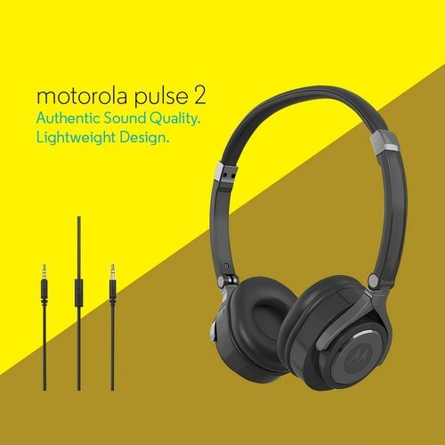54b9b5dfb77 Motorola Pulse 2 Wired Headphone (Black) at Rs 1599  number