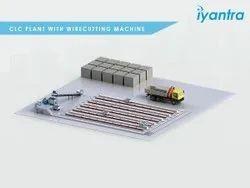 CLC Brick Making Machine with Wire Cutting Machine, Capacity: 30 Cubic Meter