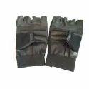 Leather Fingerless Hand Gloves