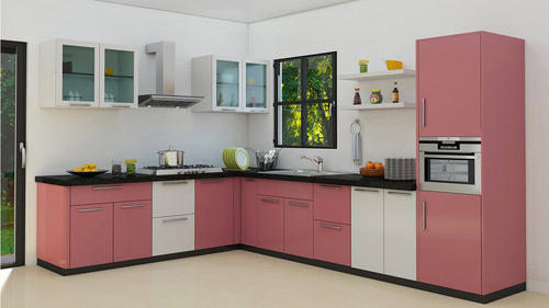 L Shaped Modern Kitchen At Rs 1499 Square Feet L Shape Modular