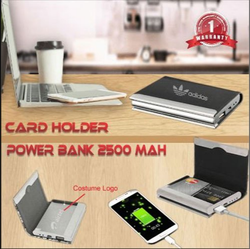 visiting card holder powerbank