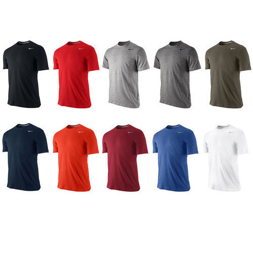 fa1bdb96735 Plain Designer Round Neck Sports T-shirts