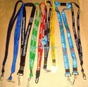 Screen Printed Flat Lanyard - Nylon Border Tape with Hook