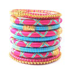 Indian Fashion Handmade Colorful Silk Thread Bangles
