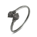 Bludgeon Style Silver Bangle