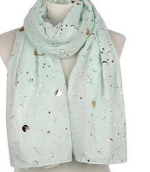 Scarf Gold Foil - Sea Green