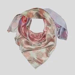 Multicolor Printed Silk Scarves
